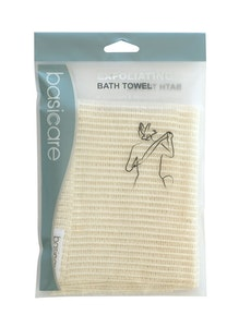 Basic Care Exfoliating Bath Towel 30cmx100cm