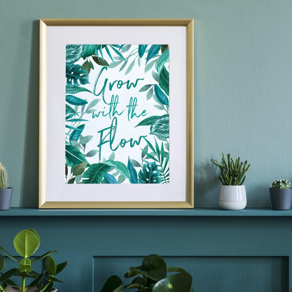 Laura Elizabeth Illustrations Grow With The Flow Fine Art Print