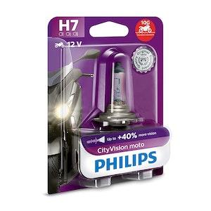 Philips CityVision Moto H7 PX26D 55W Headlight Bulb