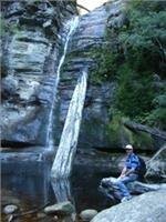 Ross enjoys pretty  peaceful Snug Falls