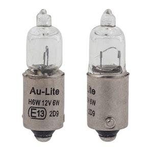2 x Bulbs BAX9S Short 12V 6W - Clear