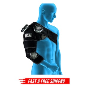 ICE 20 Combo Arm/Shoulder Strap Compression Therapy Wrap Cold Pain Relief