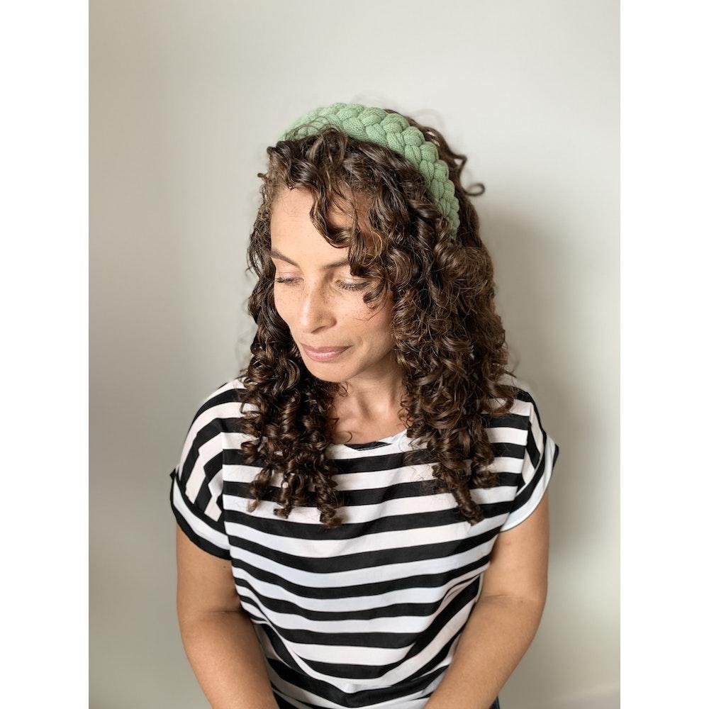 Form Norfolk Chunky Loop Knot Headband In Sea Glass Green