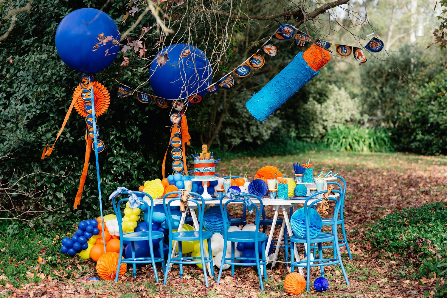 HOW TO STYLE A NERF PARTY TABLE SETTING