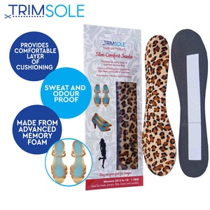 Boutique Medical 1 Pair TRIMSOLE Slim Comfort Insoles High Heels Support Pain Relief