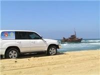 GoSeeAustralia docks next to the Sygna wreck NSW Stockton Beach