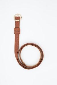 1 People Berlin Piñatex® Thin Belt in Canela Brown