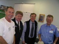 FPA President Mark Lindsay Robert Ensink Gerry Ryan and Noel Guthrie