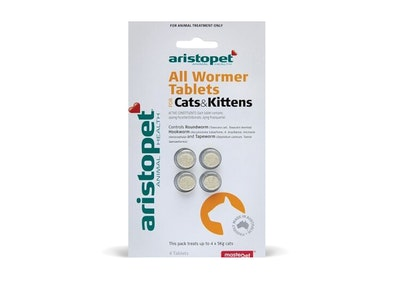 Aristopet Cat and Kitten Allwormer Tablets 4 Pack