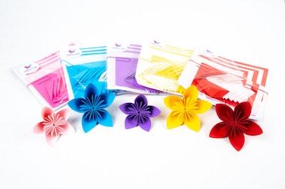 Origami World Origami Kusudama Flower DIY Flat Kit – Makes 12 Kusudama Japanese Flowers 2021