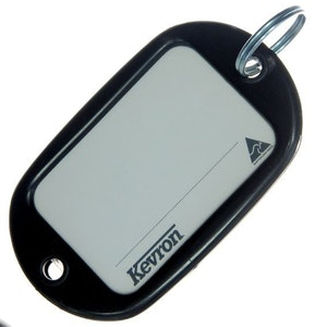 Kevron ID10 Jumbo Motel Key Tag 12 Pack - Black