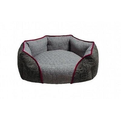 Zeez Oval Cuddler Non-Slip Base Dog Bed Grey - 3 Sizes