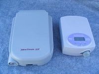 Size Comparison between Older Horizon CPAP and newer portable GoodKnight H2O CPAP