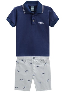 Milena Balcarcel Set Jersey Polo Shirt and Bermuda
