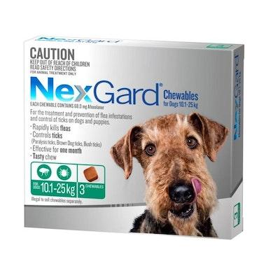 NexGard Flea & Tick Treatment 10.1-25kg Dog