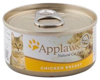 Applaws Natural Cat Food Chicken Breast Tin 70g 24 Pack