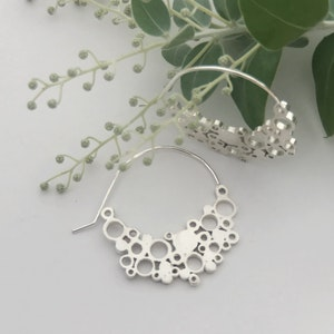 Large Sterling Silver Hoops   Extra Large holly moon