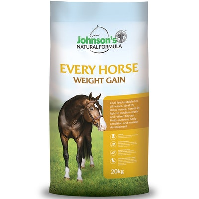 Johnson''s Johnsons Every Horse Weight Gain Natural Formula Complete Feed 20kg