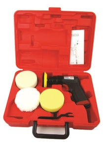 """3"""" Mini Air Polisher Kit 2100 Rpm with Speed Control & Carry Case"""