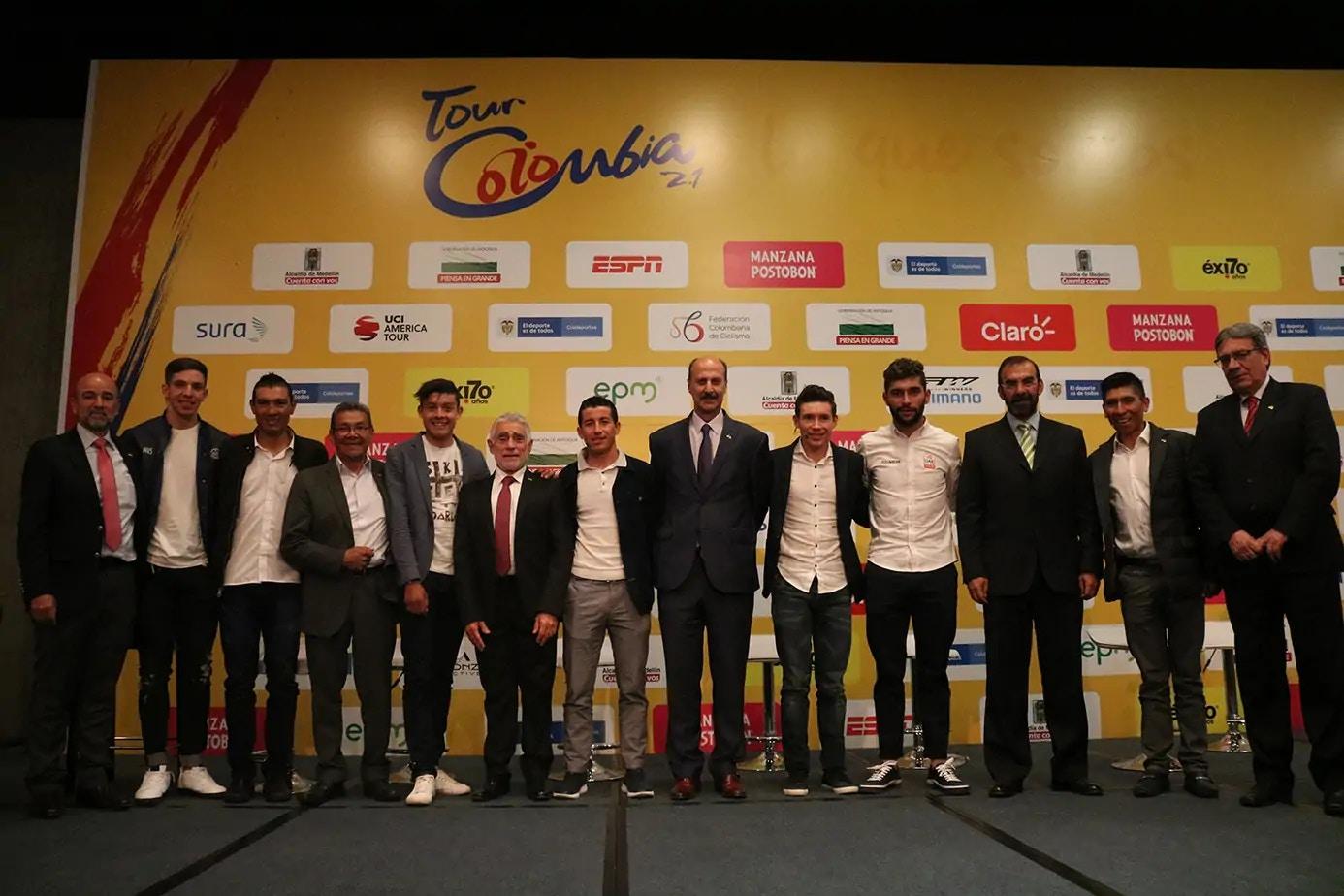 Los Escarabajos Inauguraron el Tour Colombia 2.1 en una Rueda de Prensa