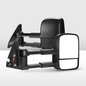 Pair Extendable Towing Mirrors for Toyota Prado 120 Series Wagon 2003 - 2009