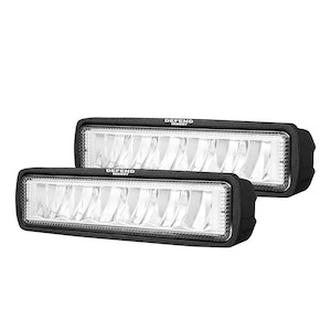 DEFEND INDUST Pair 6 inch CREE FLOOD LED Work Light Bar Reverse Driving Light 4WD