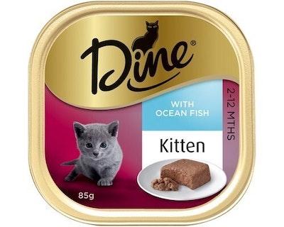Dine Kitten with Steamed Ocean Fish Kitten Cat Food 14 x 85g