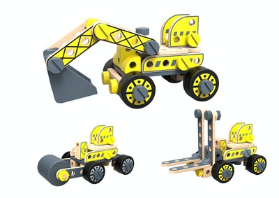 Tooky Toy DIY FORKLIFT & EXCAVATOR