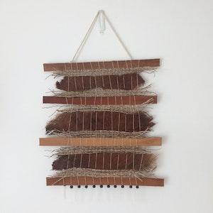 Mixed fibre wall hanging
