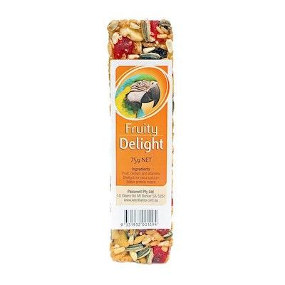 PASSWELL Avian Delight Bird Seed Treat Bar Fruity 75g 24 Pack