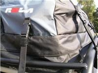 Rola Platypus Cargo Bag. Bitumen road load of 67kg. 8 straps hold it in Vortex Luggage  tray.