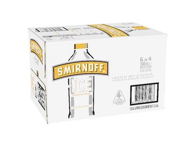 Smirnoff Ice Pineapple Bottle 300mL Case