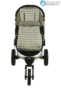 Keep Me Cosy™ 2 in 1 Infant Footmuff Set – Grey Chevron