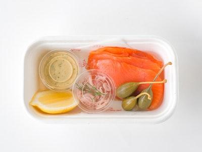 Cold Smoked Ora King Salmon & Blini box