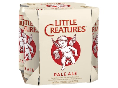 Little Creatures Pale Ale Can 375mL 4 Pack