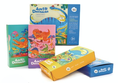 JarMelo 4 IN 1 DINOSAURS PUZZLE AND LUMINOUS