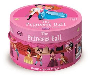 Sassi Junior Sassi - Princess Ball Book and Giant Puzzle Set, 30 pcs