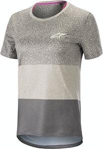 Alpinestars Stella Alps 8.0 Short Sleeve Jersey Grey-Anthracite