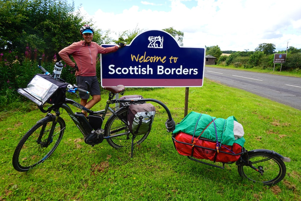 Gary at the border of Scotland