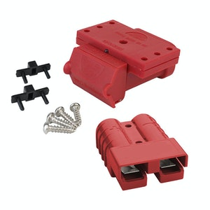 Red 50A Anderson Plug Mounting Kit with LED and Red Anderson Style Plug