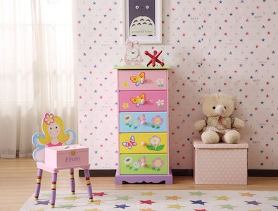 All 4 Kids Olivia the Fairy 5 Drawer Tallboy Unit