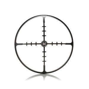 "7"" Metal Cross Hairs Design Grill - Black Contrast Cut"