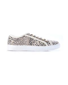 WALNUT HUNTER LEATHER SNEAKER - Honey Leopard