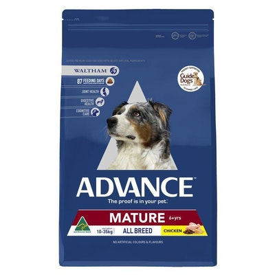 Advance Mature Medium Breed Chicken Dry Dog Food 15kg
