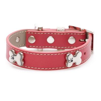 Hamish McBeth Red Bones Bling Dog Collar