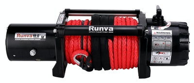 Runva EWV12000 ULTIMATE 24V with Synthetic Rope