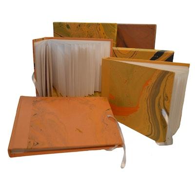 GETScrapping Luxury Handmade DIY Scrapbook Photo Album - Sunset Orange