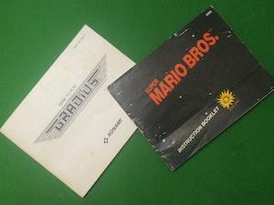 Original Manuals - Super Mario Bros.TM & Gradius for NES PAL