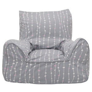 Play Pouch Pebbles Bean Chair - Pink & Grey