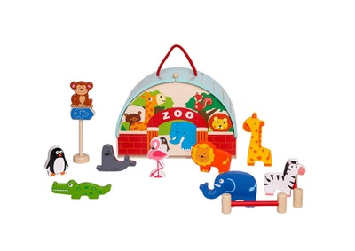 Kaper Kidz ZOO PLAYSET WITH CARRY HOUSE